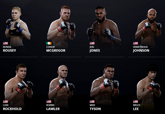 EA Sports UFC 2 roster revealed