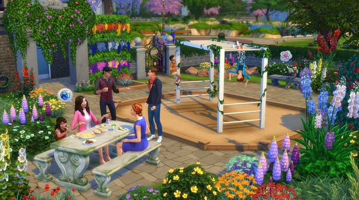 The Sims 4 Romantic Garden Stuff screenshot