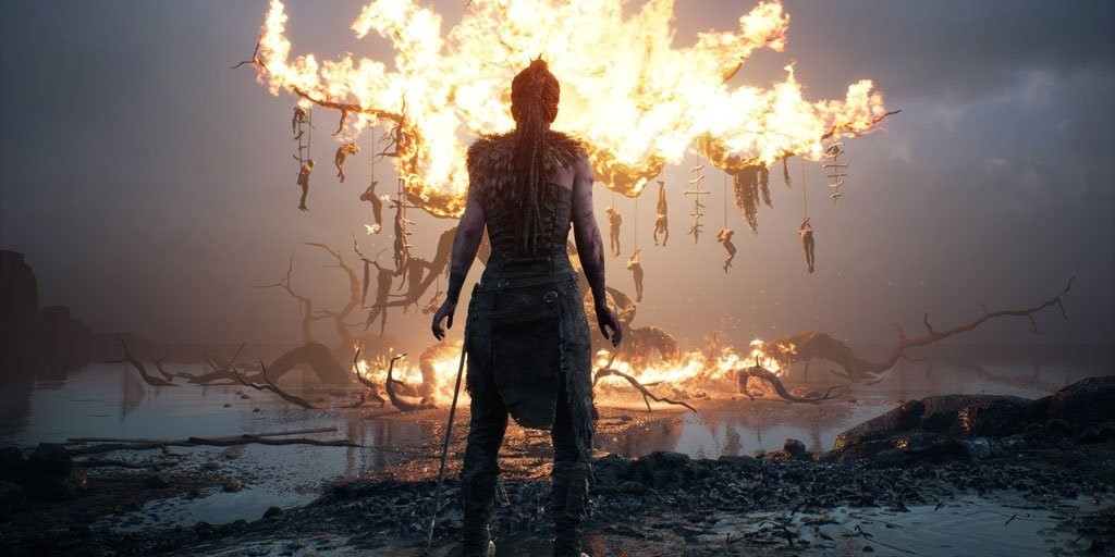 Hellblade: Senua's Sacrifice burning tree