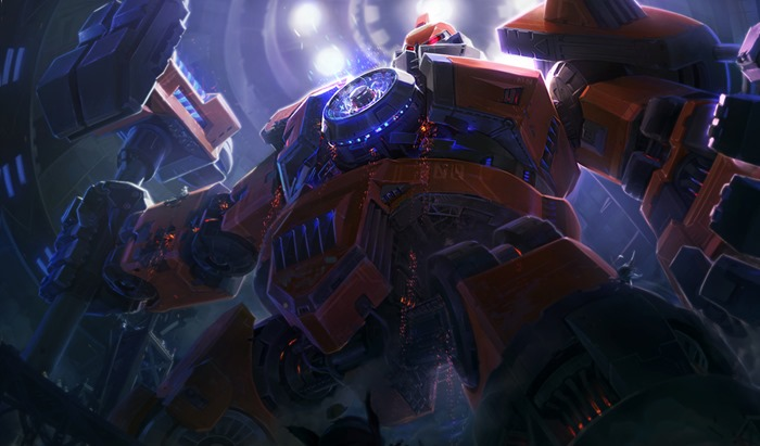 League of Legends Mecha Zero Sion skin splash art