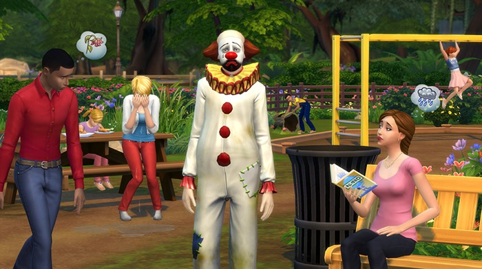 The Sims 4 Tragic Clown update