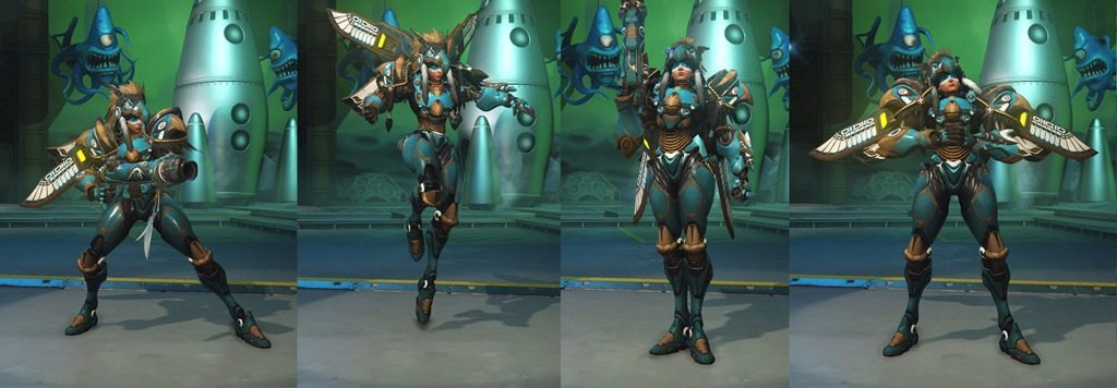 Overwatch Pharah Raindancer skin