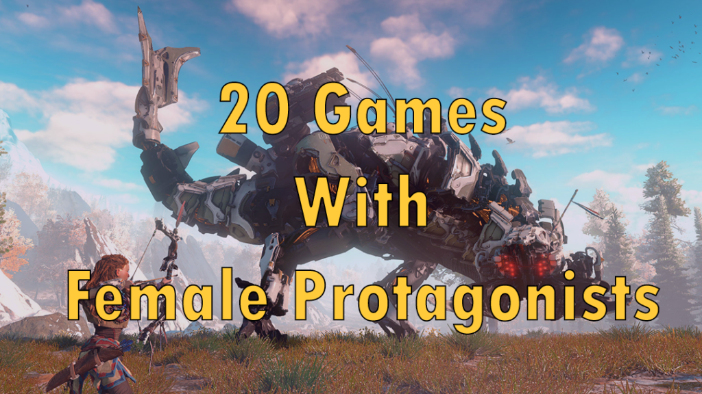 Video games with female protagonists 2017