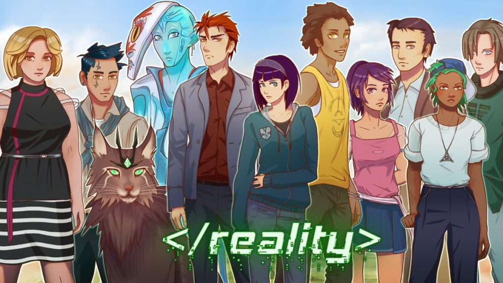 Visual novel reality characters
