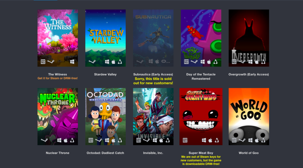 Humble Freedom Bundle games