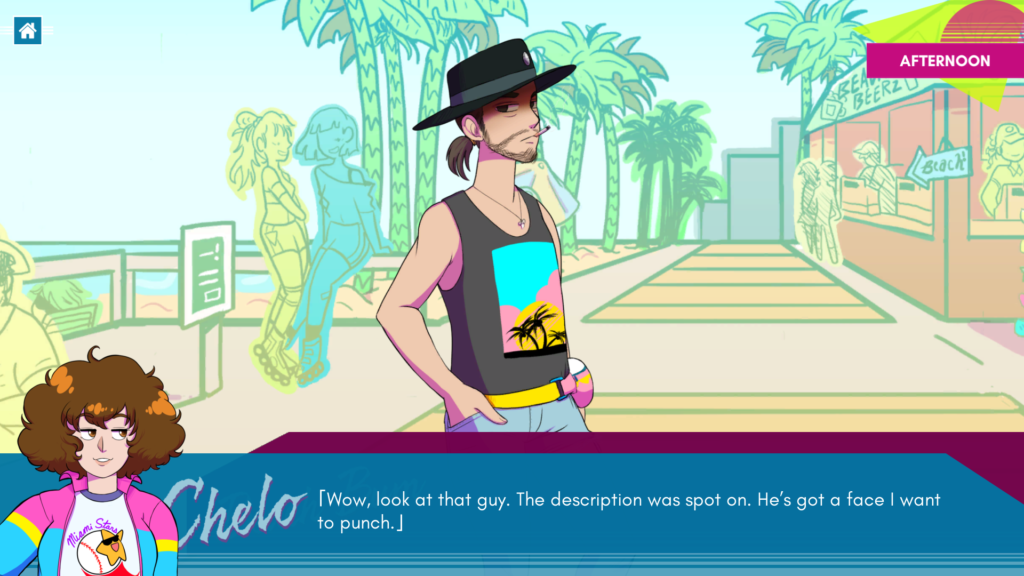 Ghosts of Miami screenshot inclusive mystery game