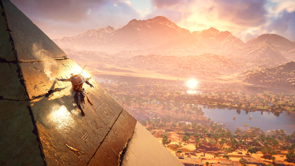 Assassin's Creed Origins climb anywhere