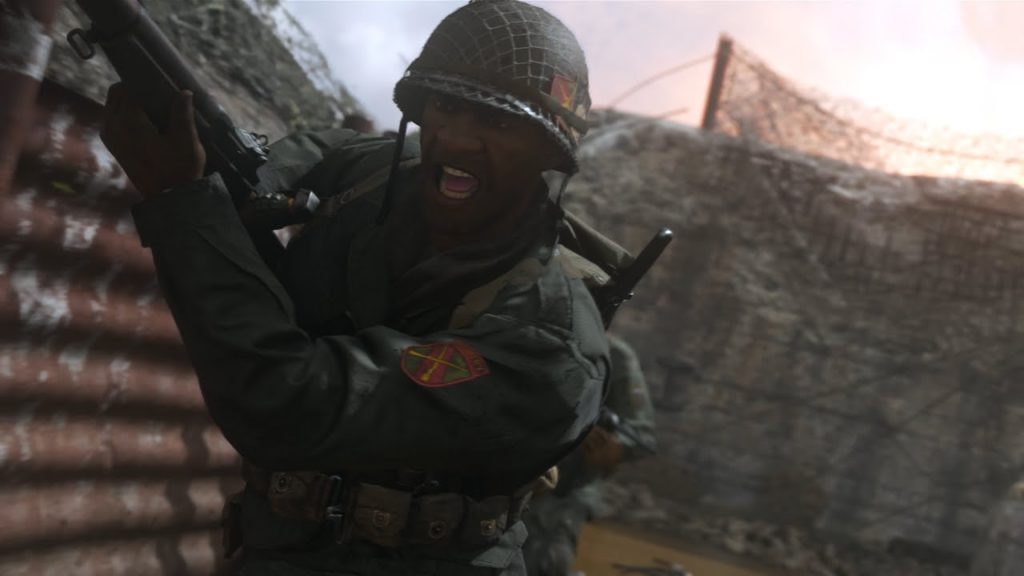 Call of Duty: WW2 multiplayer African-American soldier screenshot