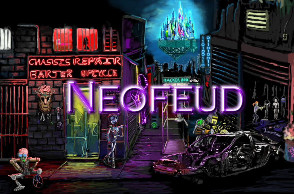 Cyberpunk adventure Neofeud Game of Thrones Blade Runner