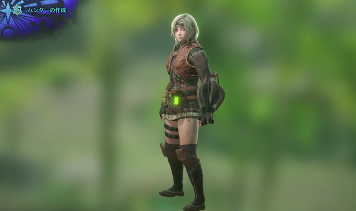 Monster Hunter World female character screenshot