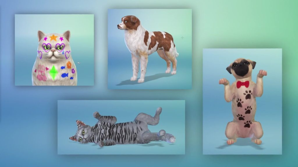 The Sims 4 Cats and Dogs screenshot bowtie dog