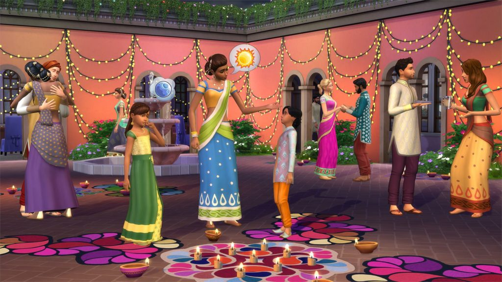 The Sims 4 Holiday Celebration Pack Diwali update