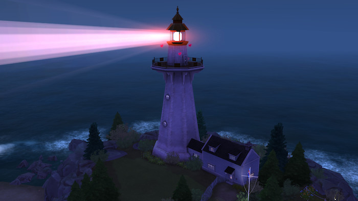 The Sims 4 Cats and Dogs WooHoo lighthouse