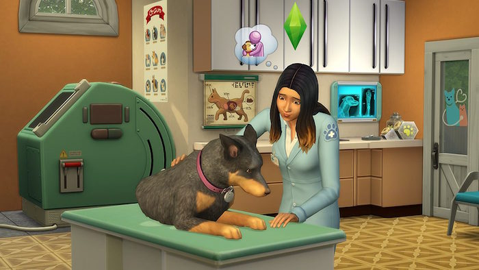 The Sims 4 Cats and Dogs vet clinic screenshot