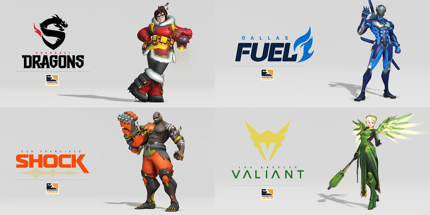 Overwatch League skins cosmetics