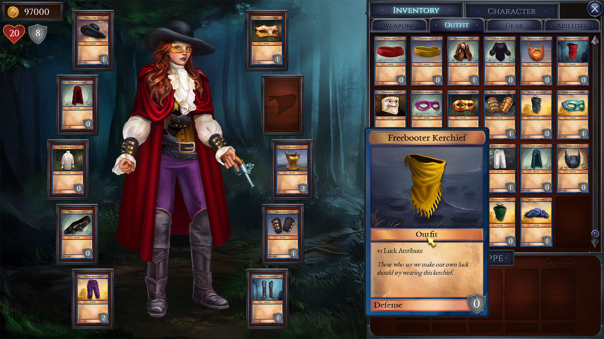 Shadowhand game character customization screenshot
