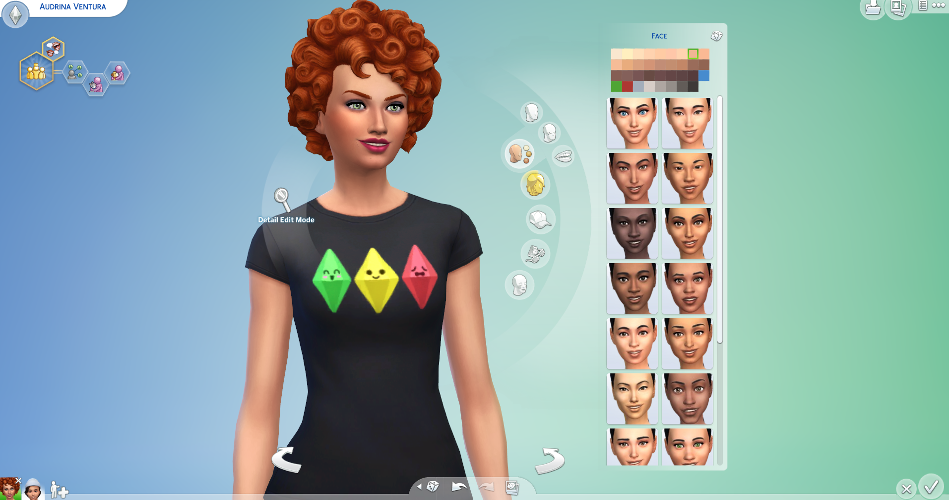 The Sims 4 new skin tones hair style